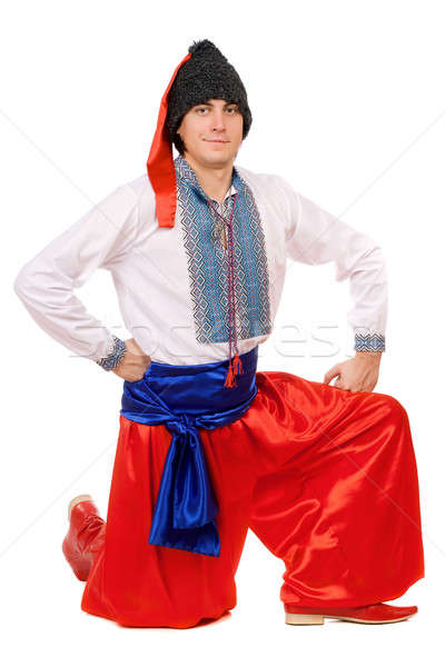 Guy in the Ukrainian national costume. Isolated Stock photo © acidgrey
