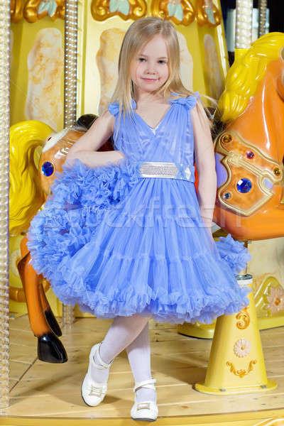 Stock photo: Little girl in blue dress