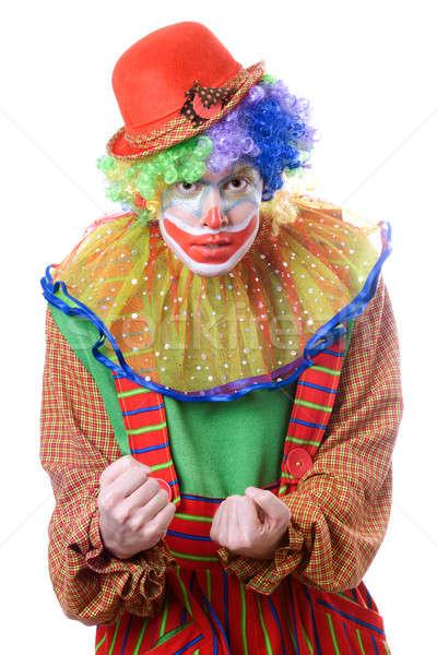 Portrait of an evil clown Stock photo © acidgrey