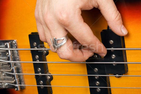 стороны гитарист гитаре древесины оранжевый рок Сток-фото © acidgrey