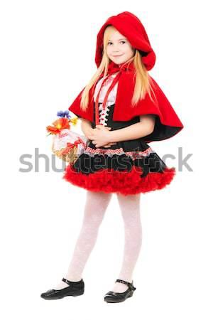Happy Little Red Riding Hood Stock photo © acidgrey