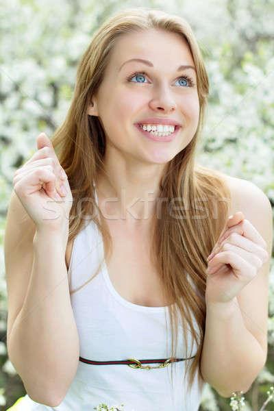 Stock photo: Pretty smiling blonde