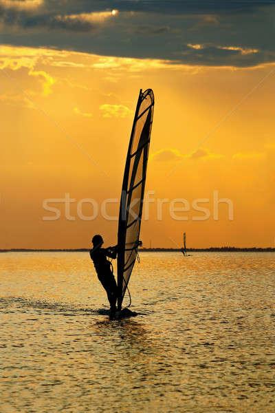 Man windsurfer Stock photo © acidgrey