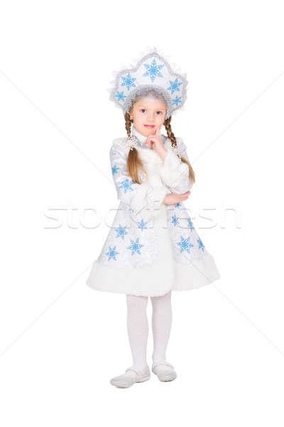 Little girl in snow maiden costume Stock photo © acidgrey