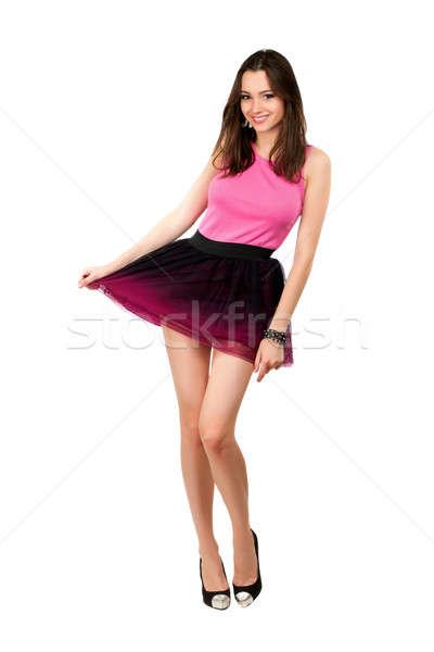 Young playful lady Stock photo © acidgrey