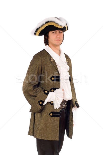 Portrait of young man in a historical costume Stock photo © acidgrey