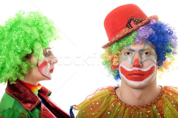 Portrait of a pair of serious clowns Stock photo © acidgrey