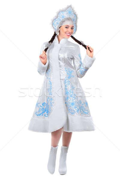 Stock photo: Young joyful lady