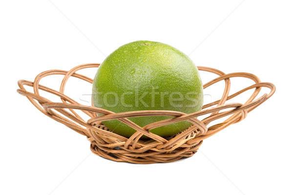 Owoców wiklina odizolowany biały zielone skóry Zdjęcia stock © acidgrey