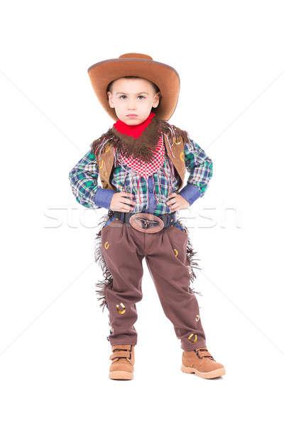 Little boy wearing cowboy suit Stock photo © acidgrey