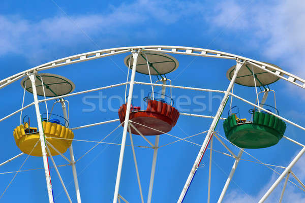 Three cabins Ferris wheel Stock photo © acidgrey