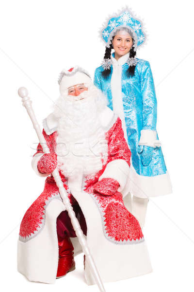 Father Frost and Snow Maiden Stock photo © acidgrey