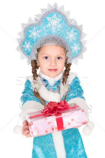 Little girl in christmas costume Stock photo © acidgrey