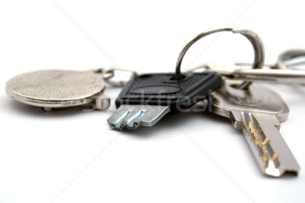 The broken key on a sheaf. isolated Stock photo © acidgrey