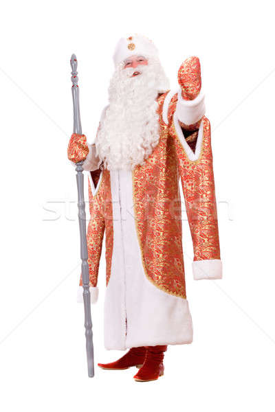 Ded Moroz with the stick in his hands Stock photo © acidgrey