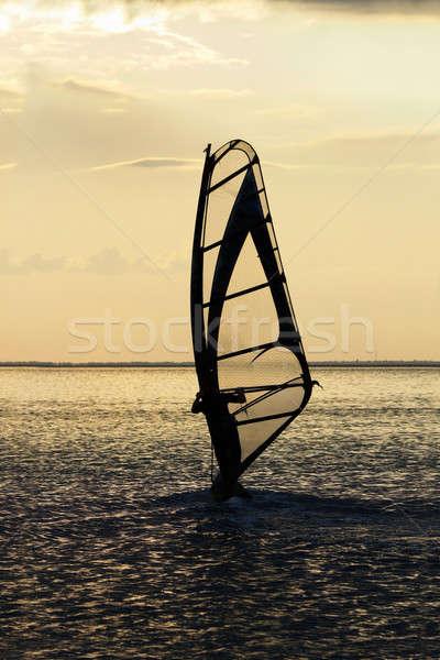 windsurfer on the sea bay surface Stock photo © acidgrey
