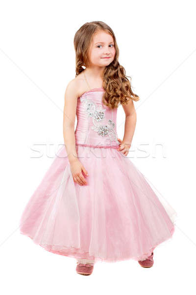 Beautiful curly little girl Stock photo © acidgrey