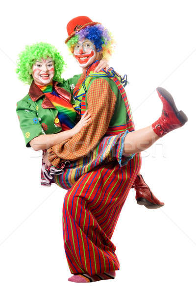 Stock photo: A couple of joyful clowns