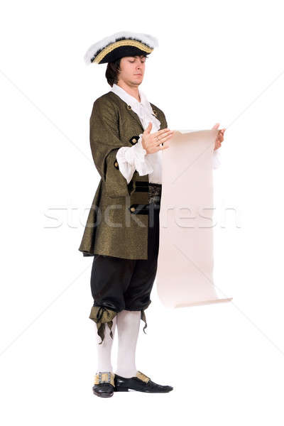 man in a historical costume read the decree Stock photo © acidgrey