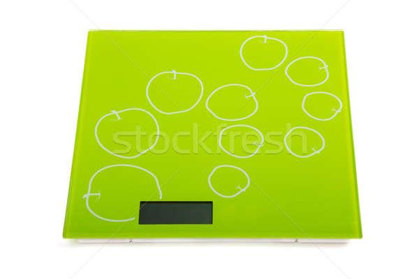 Green square kitchen scale Stock photo © acidgrey