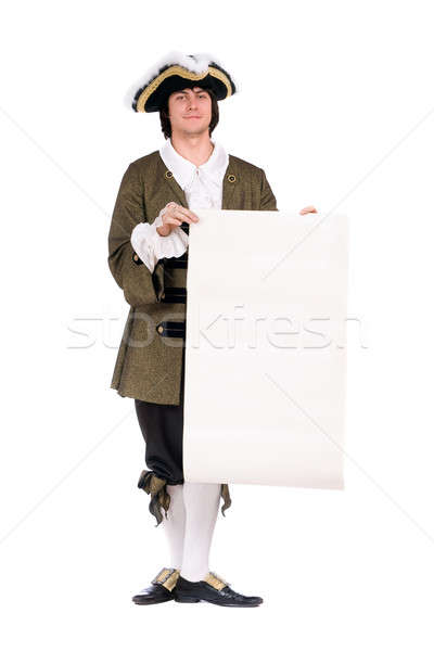 Man in a historical costume. Isolated Stock photo © acidgrey