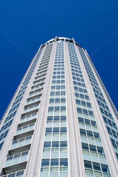 Yüksek modern bina mavi gökyüzü Moskova Rusya iş Stok fotoğraf © acidgrey