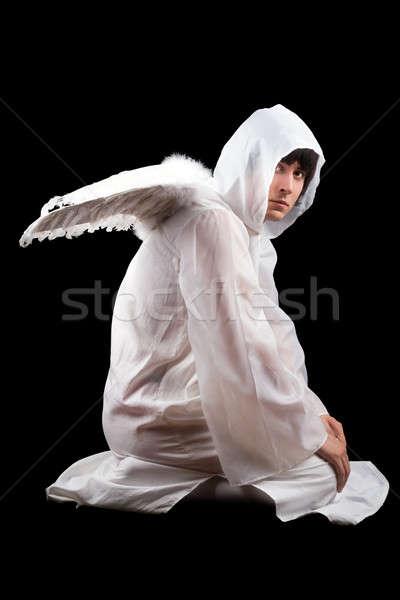 Man wearing white Stock photo © acidgrey