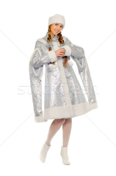 Stock photo: Playful cute Snow Maiden