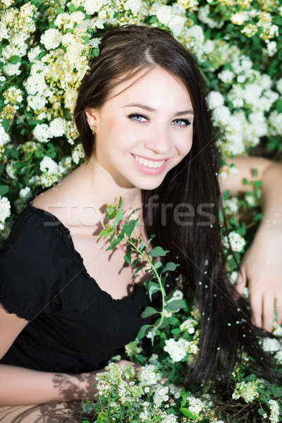 Young cheerful brunette Stock photo © acidgrey