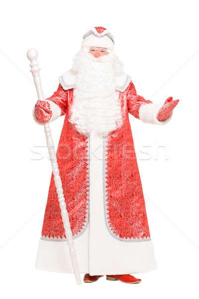 Santa with a staff Stock photo © acidgrey
