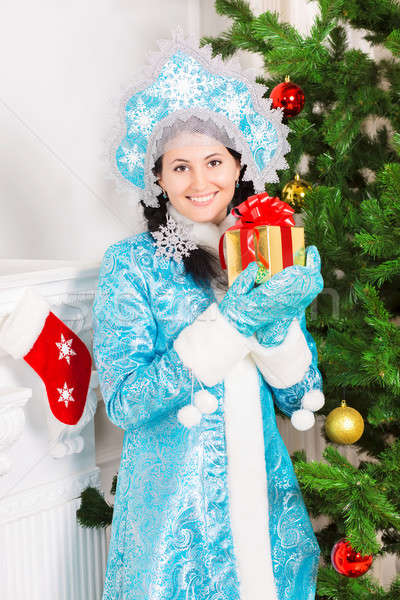 Stock photo: Smiling snow maiden