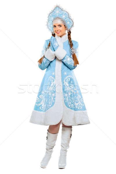 Atractivo azul traje nieve Foto stock © acidgrey