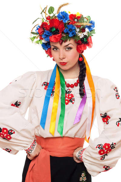 girl in the Ukrainian national clothes Stock photo © acidgrey