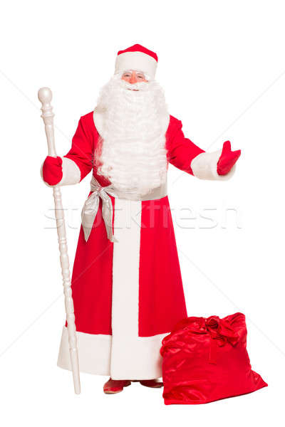 Santa Claus with gift bag Stock photo © acidgrey