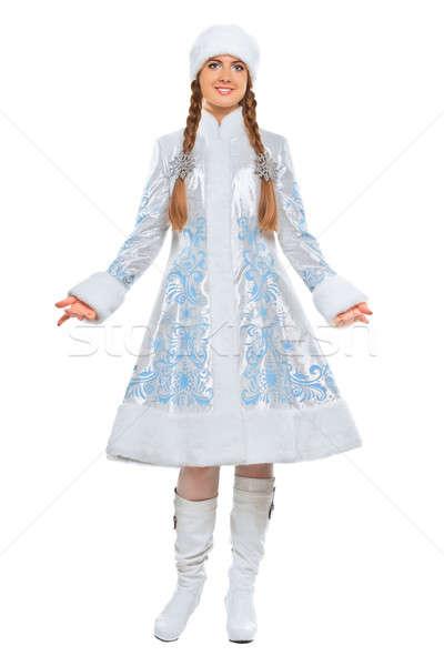 Atractivo posando traje nieve Foto stock © acidgrey