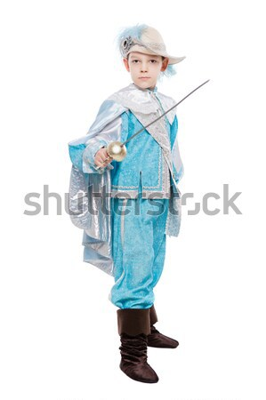 Portrait of young man with a sword Stock photo © acidgrey