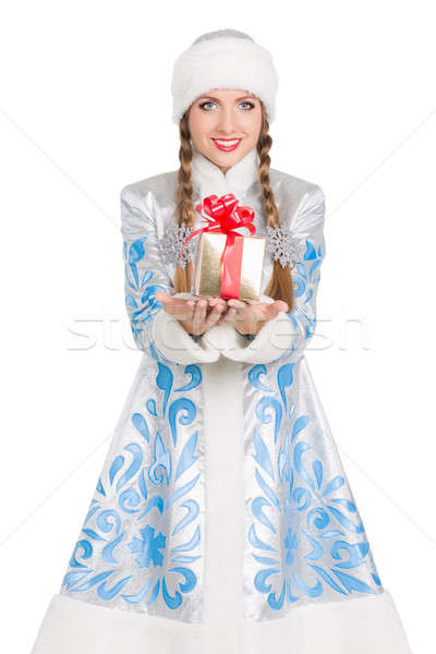 Stock photo: Charming Snow Maiden
