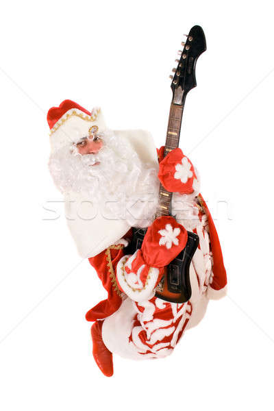 Mad Ded Moroz with a broken guitar Stock photo © acidgrey