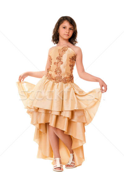 Little girl in a chic evening dress Stock photo © acidgrey