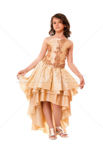 Cute little girl in a chic dress Stock photo © acidgrey