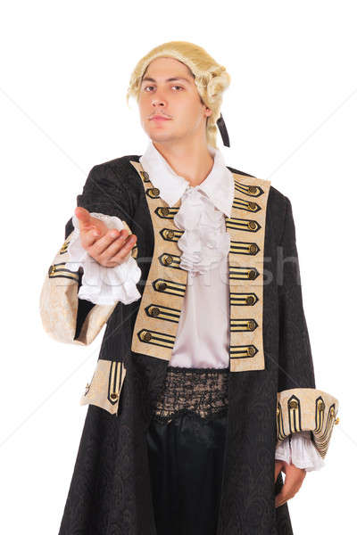 Young man in medieval costume Stock photo © acidgrey