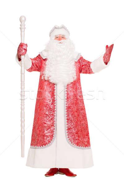 Man in Santa Claus suit Stock photo © acidgrey