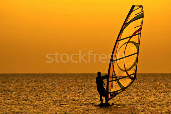 Windsurfer Stock photo © acidgrey