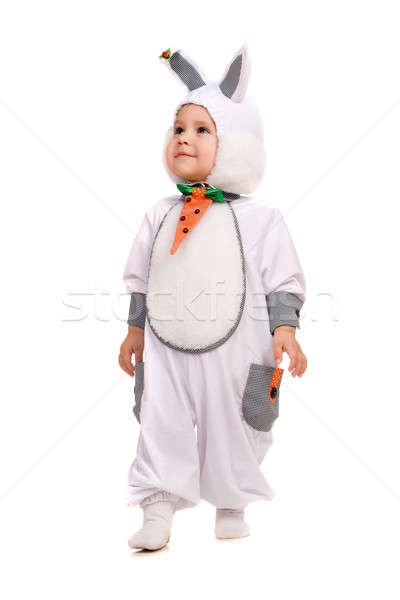 Little boy dressed as bunny. Isolated Stock photo © acidgrey