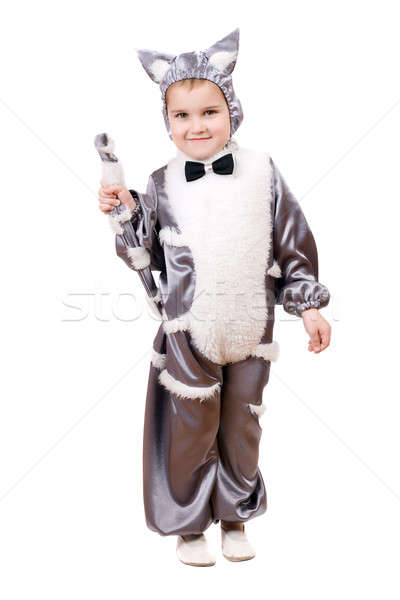 Little boy dressed as cat Stock photo © acidgrey