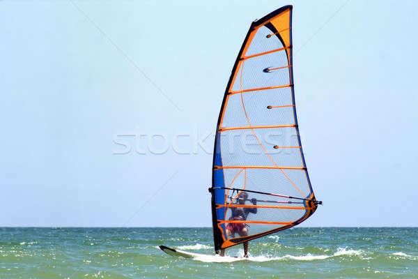 windsurfer on the blue sea Stock photo © acidgrey