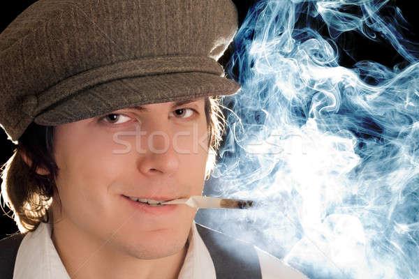 Smoking man Stock photo © acidgrey