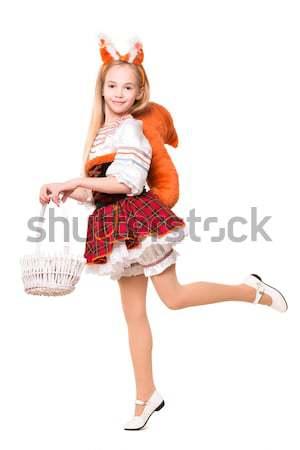 Seksi genç havuç kız Stok fotoğraf © acidgrey