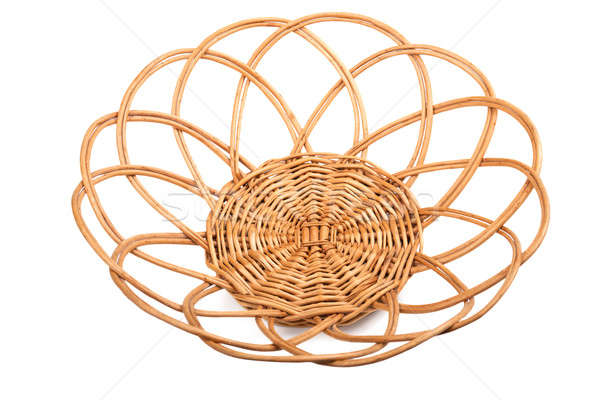 Round wicker basket Stock photo © acidgrey
