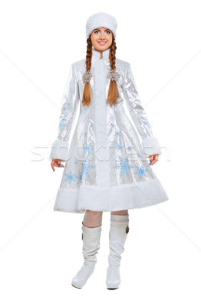 Jóvenes mujer bonita brillante invierno abrigo Foto stock © acidgrey